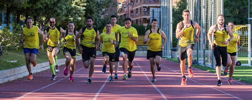 Grupo de entrenamiento de carrera
